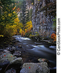 LoganRiver - The Logan River, in Utah, photographed during...