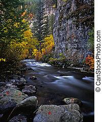 LoganRiver - The Logan River, in Utah, photographed during...