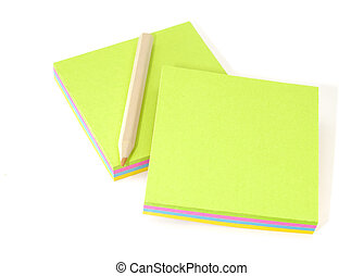 Memo Pads - Photo of Memo Pads and a Pencil - Office Related...