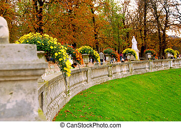 Jardins du Luxembourg (Luxembourg gardens) in Paris, France