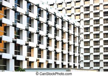 Bangkok abstract - Abstract architecture from two Bangkok...