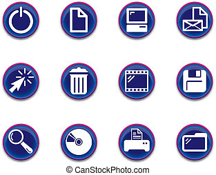 icons - computer set 1 - a set of computer themed icons