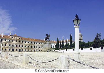 palace - The central area of a small small town in Spain is...