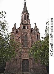Neo-Gothic church , Palacio Sobrellano, Comillas, Cantabria,...