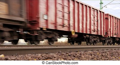 Freight train - Fast freight train with motion blur