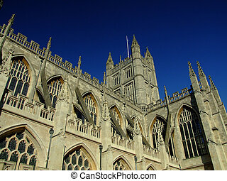 bath abbey in city of bath