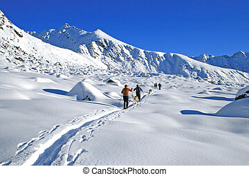 Hatchers Tour - Backcountry skiing in Hatchers Pass, Alaska...