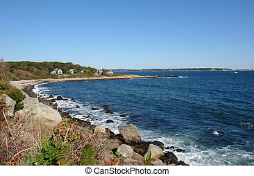 View Of the Gloucester Coast - full color view fo the...