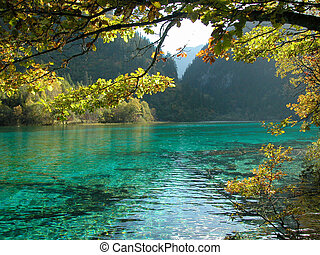 Lake - Jiuzhaigou Valley Scenic and Historic Interest Area,...