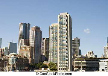 Boston cityscapes - Close view of Boston skylines take from...