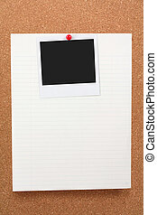 notepaper and blank photo