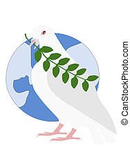 PEACE PIGEON AND EARTH;GRAPHICS