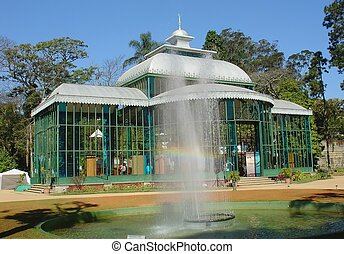 Crystal palace in petropolis, brazil