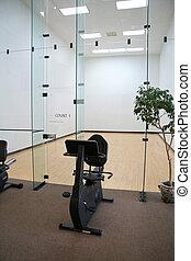Racquetball, tribunal, ejercicio, bicicleta