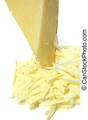 Parmesan Cheese - A wedge of paremsan cheese and grated...