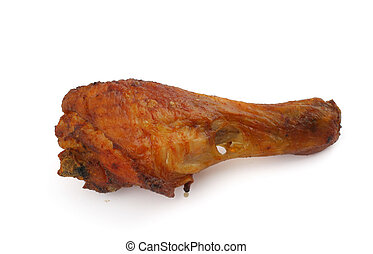 fried chicken leg on white background #2