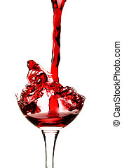 Red wine - Pouring red wine into a wine glass
