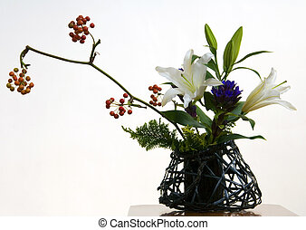 Ikebana III - An example of Ikebana, the Japanese art of...