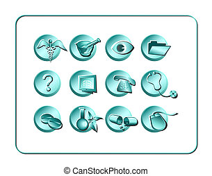 Medical & Pharmacy Icon Set - Light 1Medical & Pharmacy Icon...