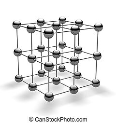 Ball cube - Cube from steel balls