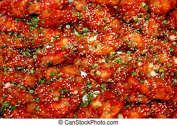 Spicy Chicken wings - Red clored buffalo chicken wings