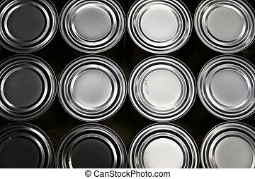 food cans - Freshly produced food cans from an Industry
