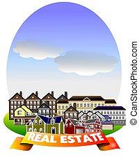 REAL ESTATE - Real estate illustration