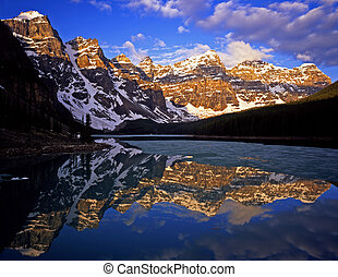 MoraineLake4 - Moraine Lake in Banff National Park located...