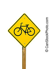 Bike Path Sign - Photographed bike trail sign at a park in...