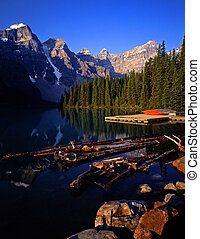 MoraineLake2 - Moraine Lake in Banff National Park located...