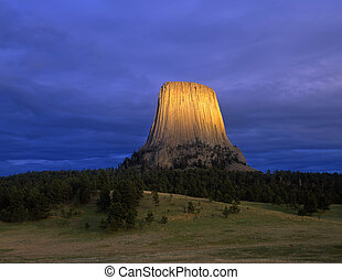 DevilsTower#4 - Devils Tower National Monument, located in...