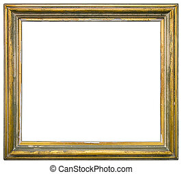 Gilded wooden frame - Empty gilded picture frame