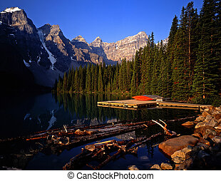 MorainLake1 - Moraine Lake in Banff National Park located in...