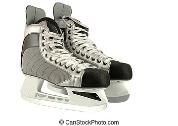 ice skates - pair of mens winter ice hockey skates