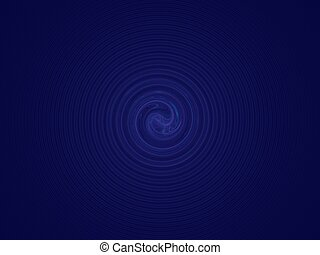 Deep blue spiral - Digital background - fractal, Hypnotic...