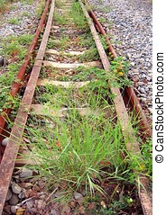 Abandoned Railroad Tracks - -- part of a deserted train line