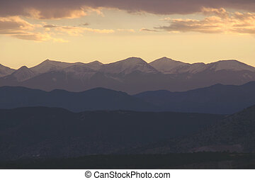 Mountain Sunset - Sunset over the Sangre De Cristo Mountains