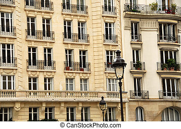 Paris windows - Windows and balconies of old apartment...