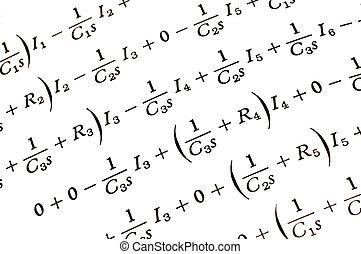 Equations - mathmatical equations from a college textbook on...