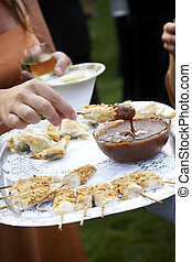 appetizer during a wedding or event