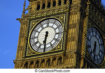 Big Ben - Close up shot of Big Ben during summer in London