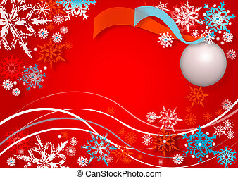 snowflakes dance - red abstract background
