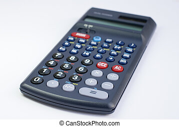 calculator on the white background isolated