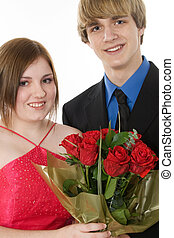 Adorable Teen Couple - Adorable teen couple in formals with...