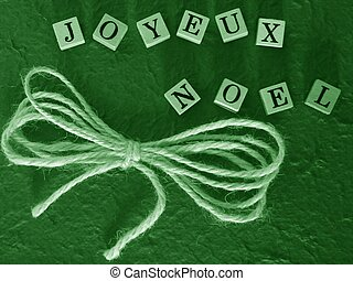 joyeux noel green - simple christmas greetings background...