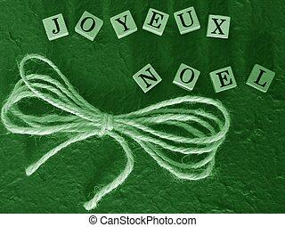 joyeux noel green - simple christmas greetings background...