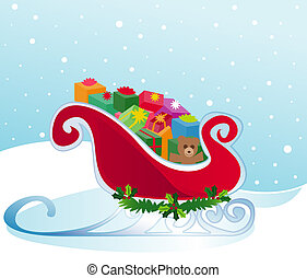 Santa\\\'s Sleigh - Santa\\\'s sleigh packed to the brim...