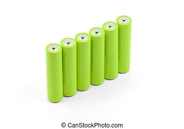 batteries - green batteries with white background