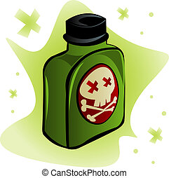 Deadly Poison - Bottle of poisonous substance with...