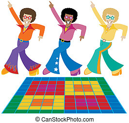 Disco Dudes - Three groovy disco dudes strutting their stuff...
